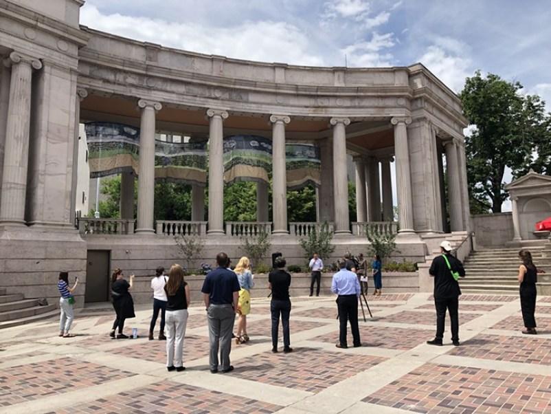 Walk around Civic Center Park in Denver