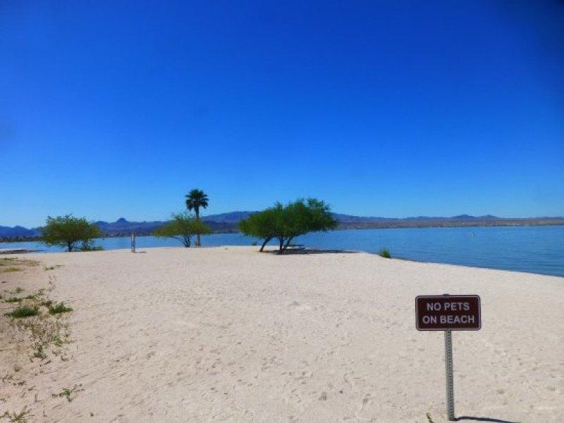 Lake Havasu State Park Beach in Arizona