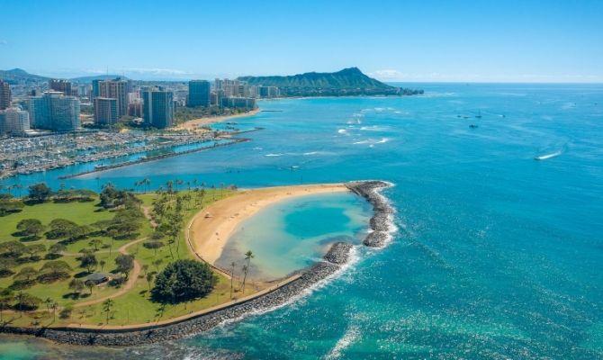 Magic Island Beach Honolulu HI