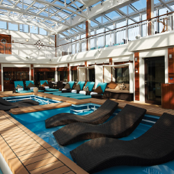 The Haven has its own pool courtyard. // © 2013 Norwegian Cruise Line