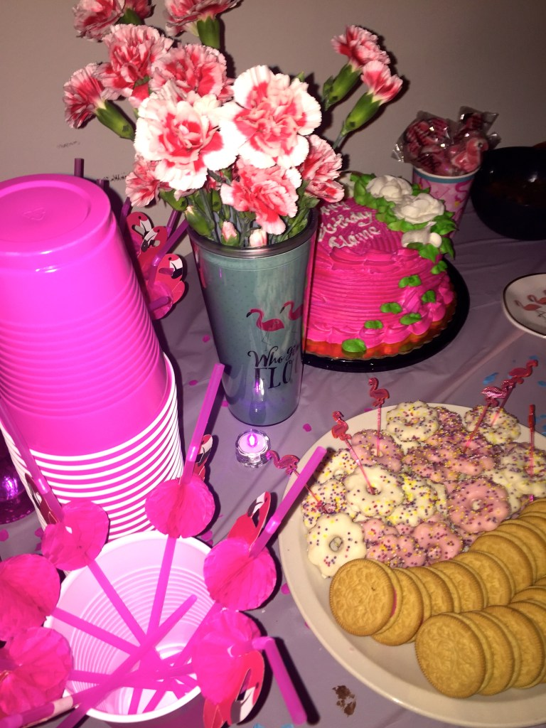 birthday pink decorations