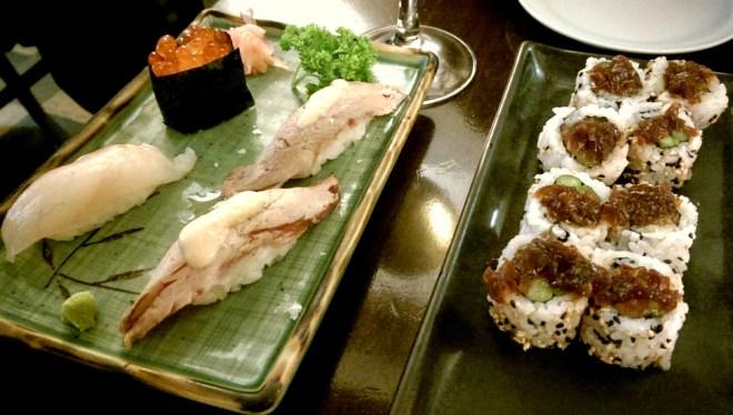 Fusion Sushi, including veal sushi!
