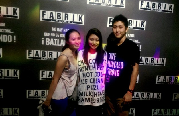 "Us at the Fabrik poster (btw, the text says ""there is nothing that can't be resolved by dancing"")"