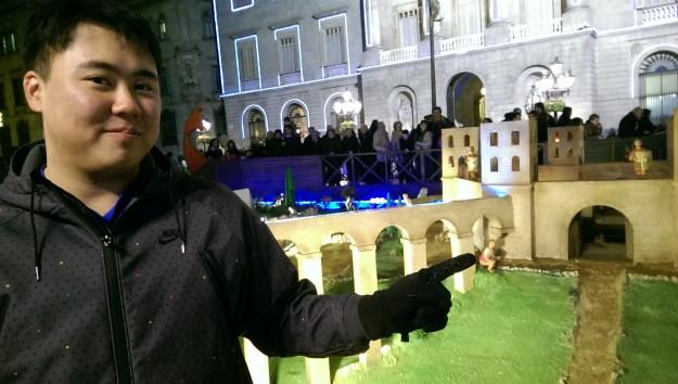 The Nativity Scene in the plaza de Sant Jaume. David found waldo!