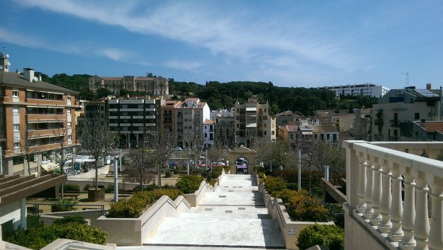 View from the Indian Mansion of Arenys de Mar. On the opposite hilltop is a Mansion that belongs to another Indian.
