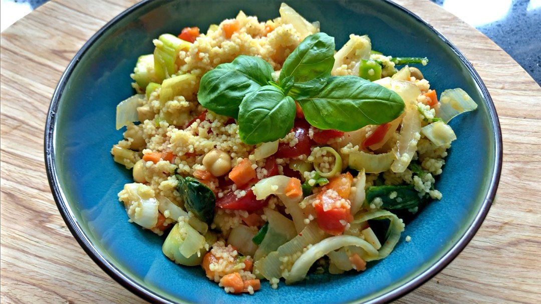 Just add water vegetarian curried couscous