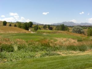 The view from the tee box on #2, Vista course.