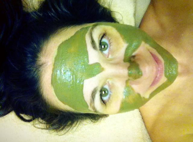 jenn with mud mask on