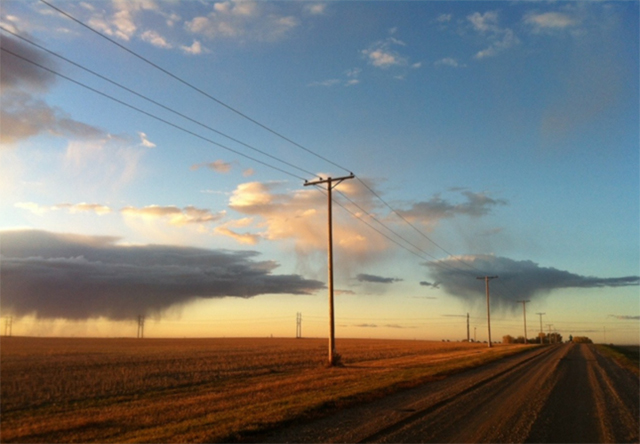 Prairies during the golden hour