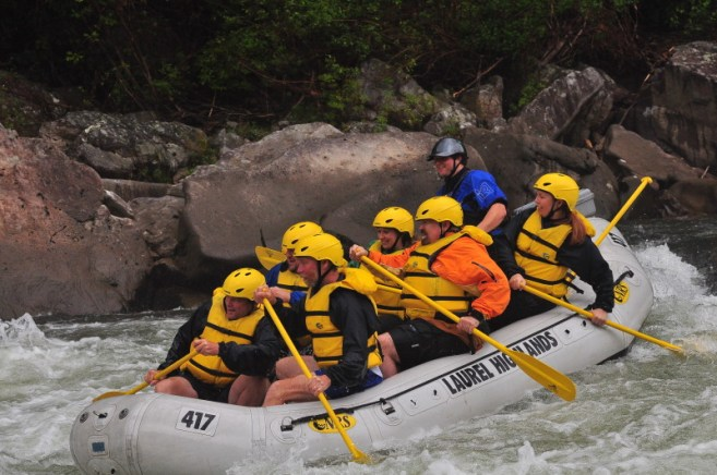 Anticipating the Yough rapids