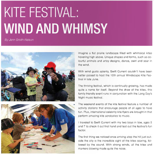 Windscape Kite Festival, Swift Current - Wind and Whimsy