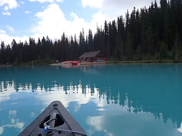 Canoeing on Lake Louise
