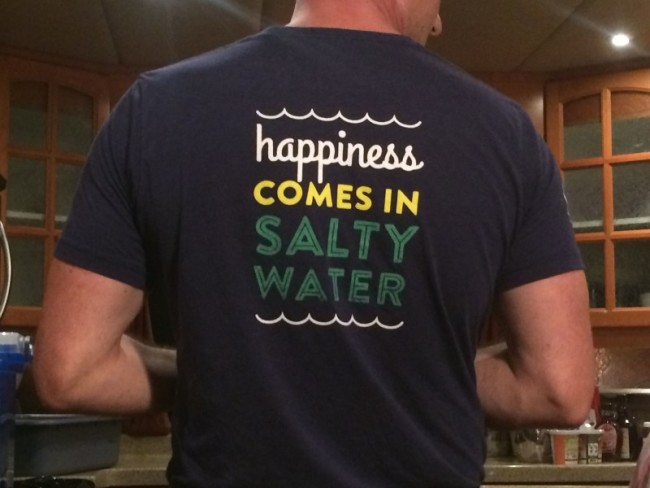 Happiness comes in salty water
