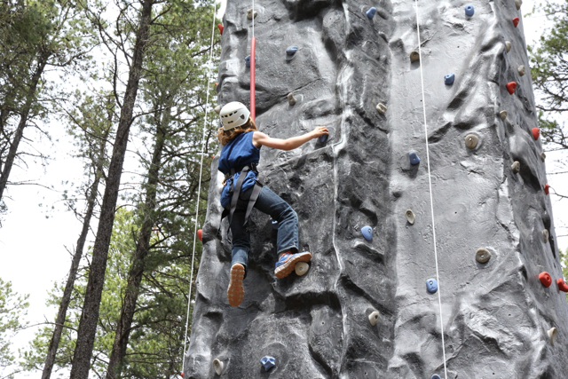 Rock climbing at Cypress Hills Eco Adventure Ltd.