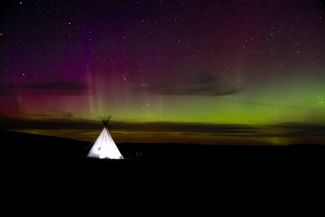 northern lights tipi grasslands