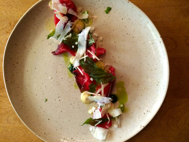 Beef Carpaccio Little Grouse on the Prairie Saskatoon Jenn Smith Nelson