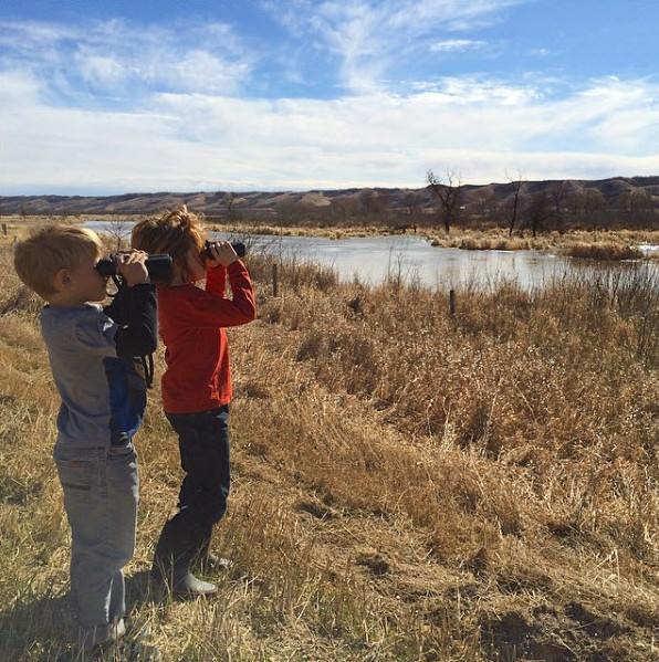 Budding birders and one very proud mama.