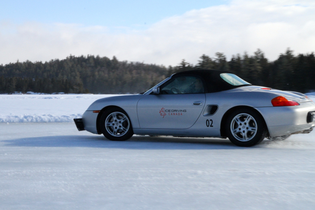 Ice Driving Canada Porsche Boxster Jenn Smith Nelson