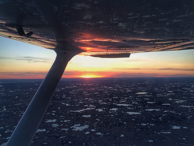 Sunset flight Saskatchewan