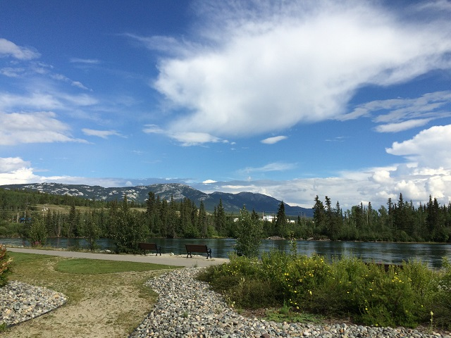 Whitehorse - view of the Yukon River.