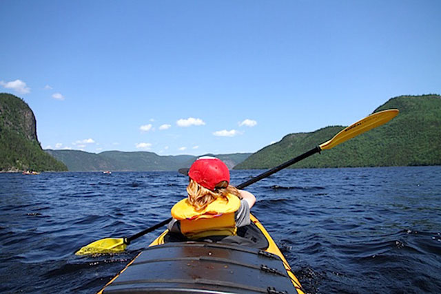 Sea kayaking in Lac St Jean, Quebec