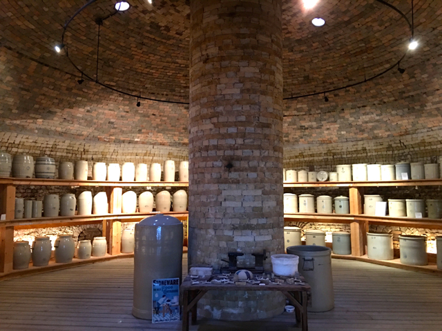 Inside one of the massive beehive kilns at Medalta Jenn Smith Nelson