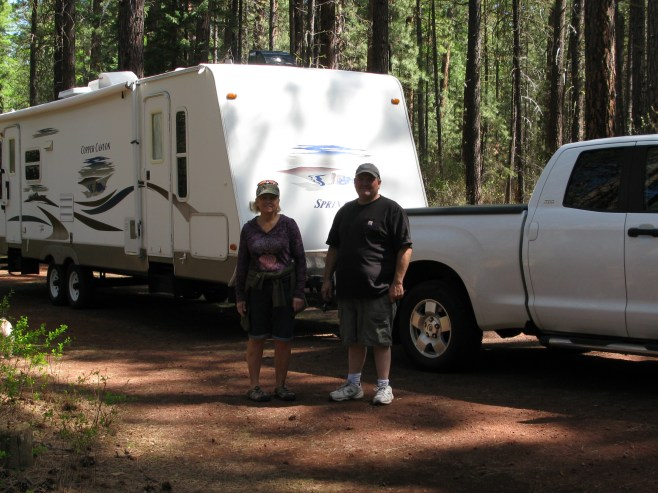 Ross and Cheryl our camping buddies-hey where is Zoey!!!