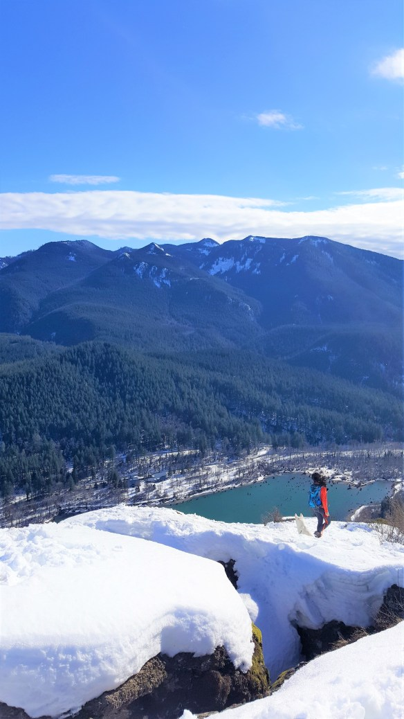 Be careful of this Crevice on Rattlesnake Ledge