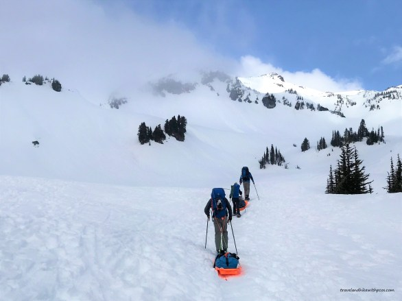 Snow Campers finding Solitude on trail to Panorama Point
