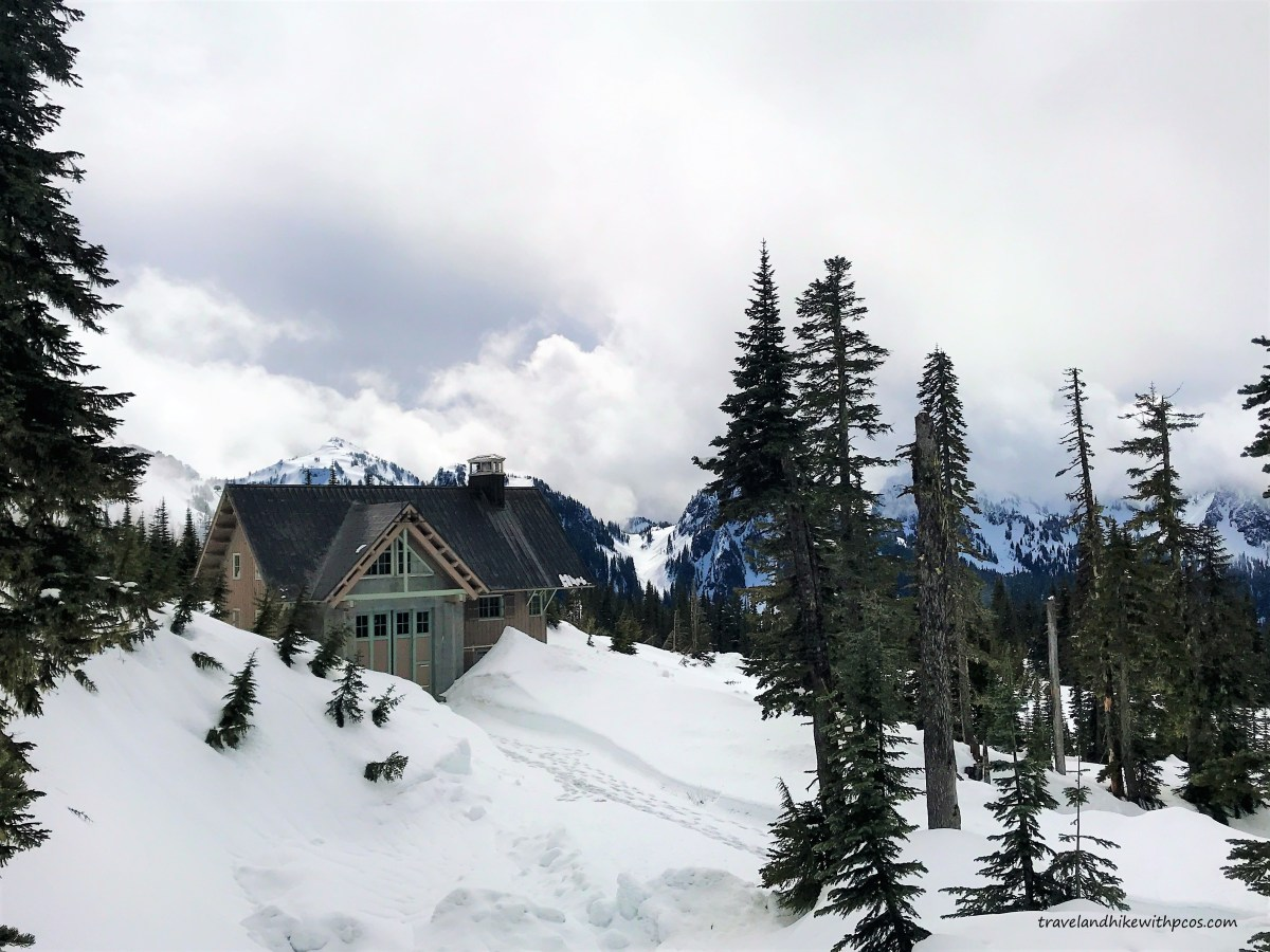 Snowshoeing at Mount Rainier –Family Hike during  Spring.