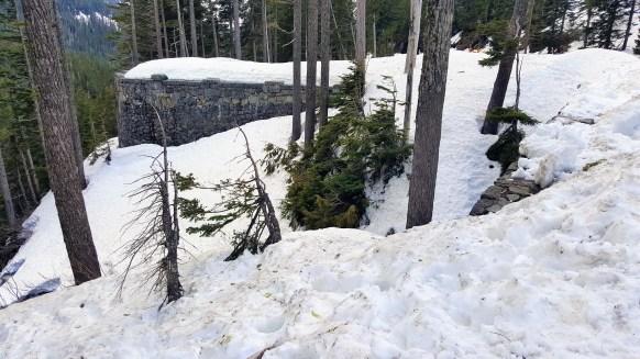 Snow covered Narada Falls