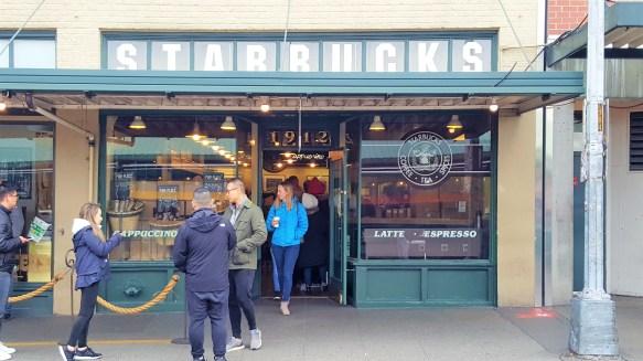 Original Starbucks at Seattle Downtown