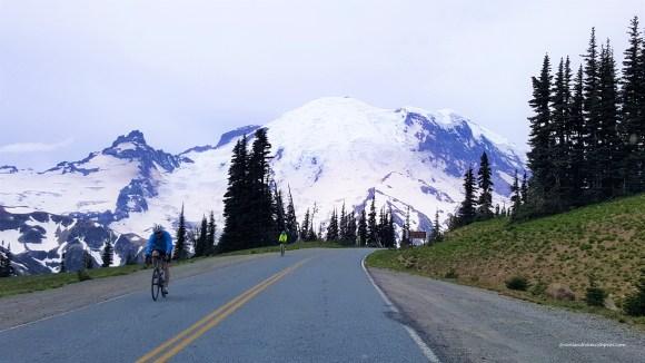 View of Mount Rainier in Mount Rainier National Park