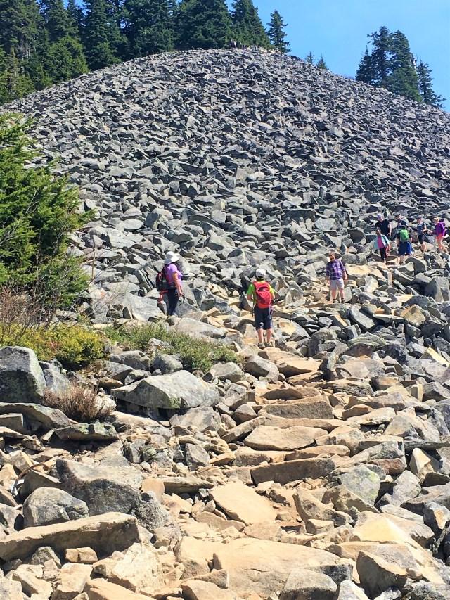 Boulder Field at Mailbox Peak trail