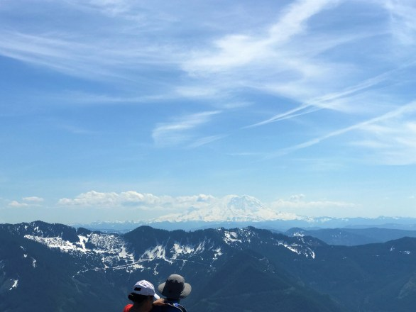 View of Mount Rainier from Mail Box Peak Summit