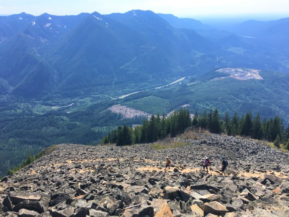 View of Snoqualmie Valley and I-90 from top of Boulder field -Best Hikes near Seattle