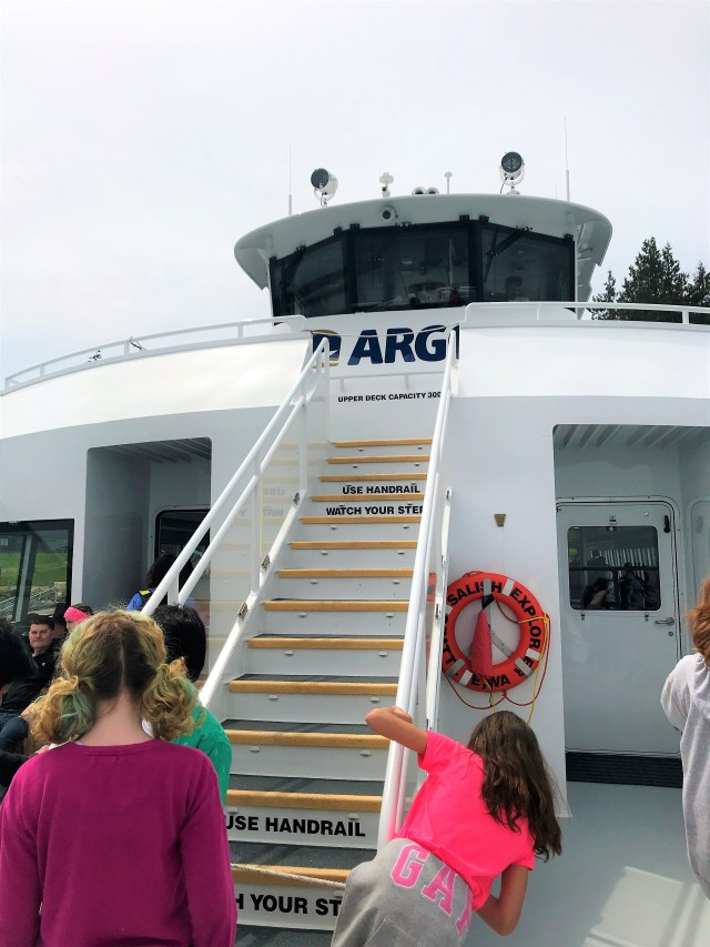 On Argosy Cruise in front open section