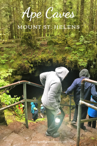 Ape Caves Entrance at Mount St Helens Washington