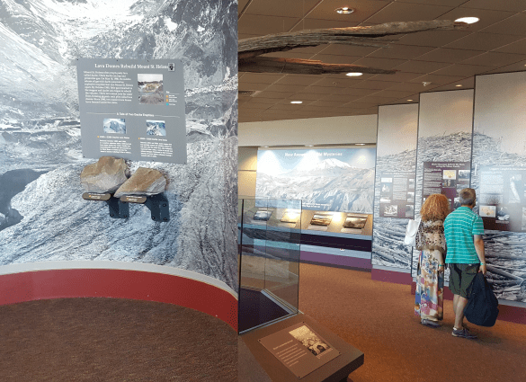 Exhibits at Johnston Ridge Observatory