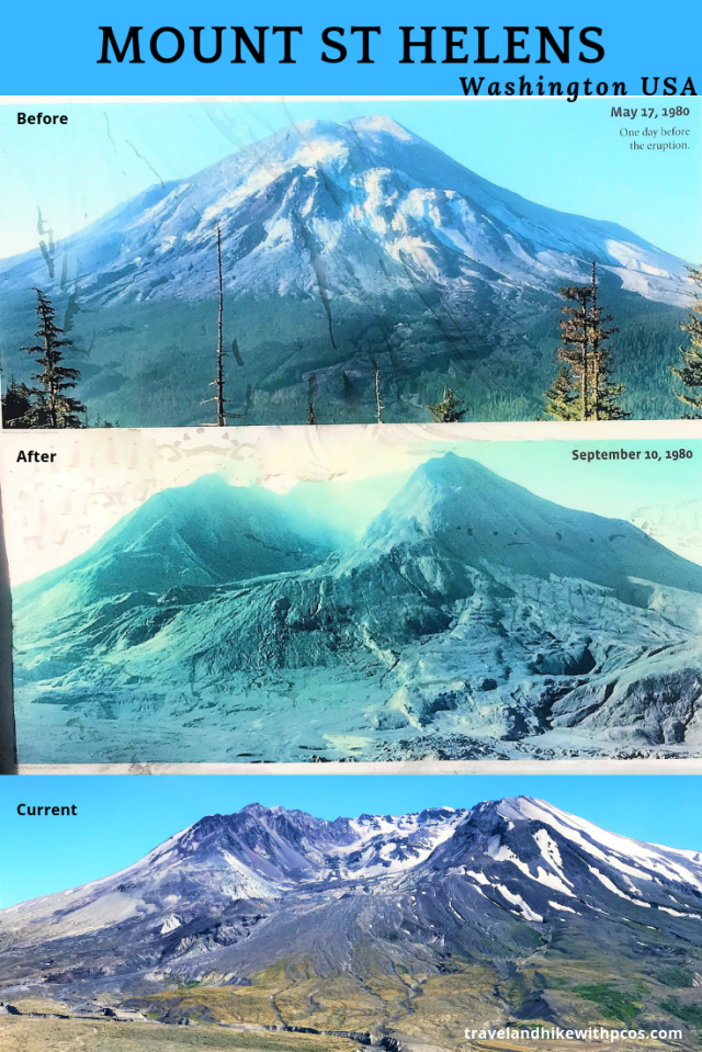 Mount ST Helens - Before and After Pic