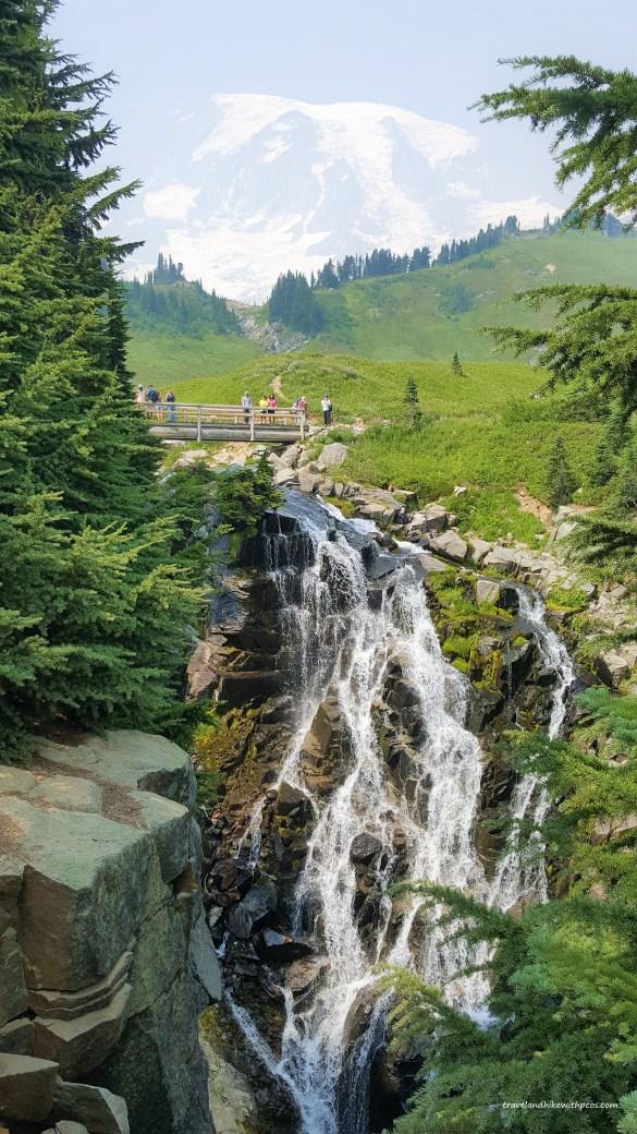 Myrtle Falls at Paradise Mount Rainier National Park