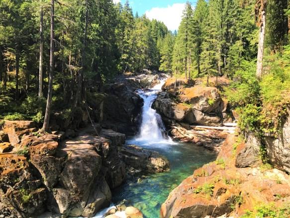Silver Falls at Mount Rainier National Park