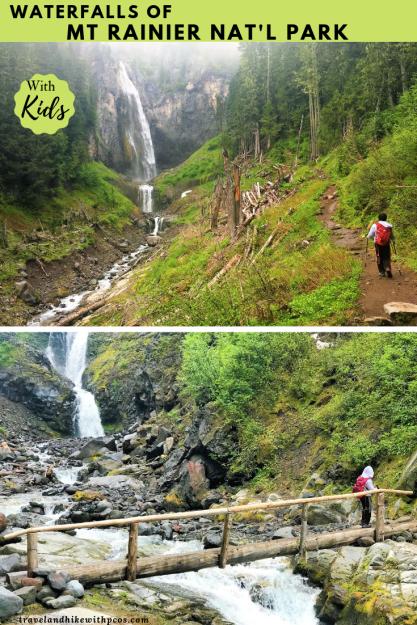 Waterfalls of Mount Rainier National Park Washington USA