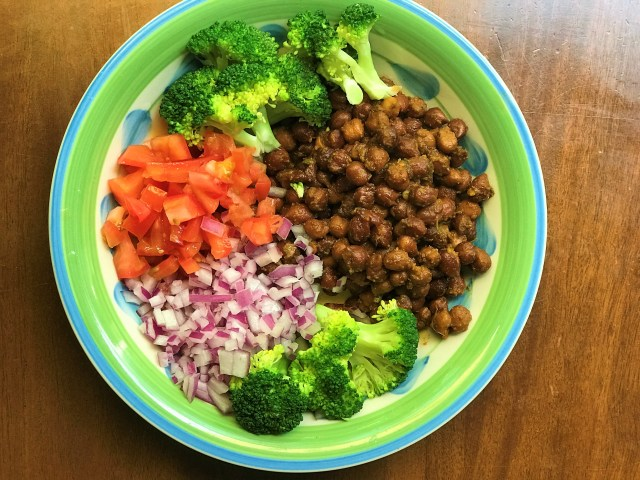 Indian Style Chickpea Salad