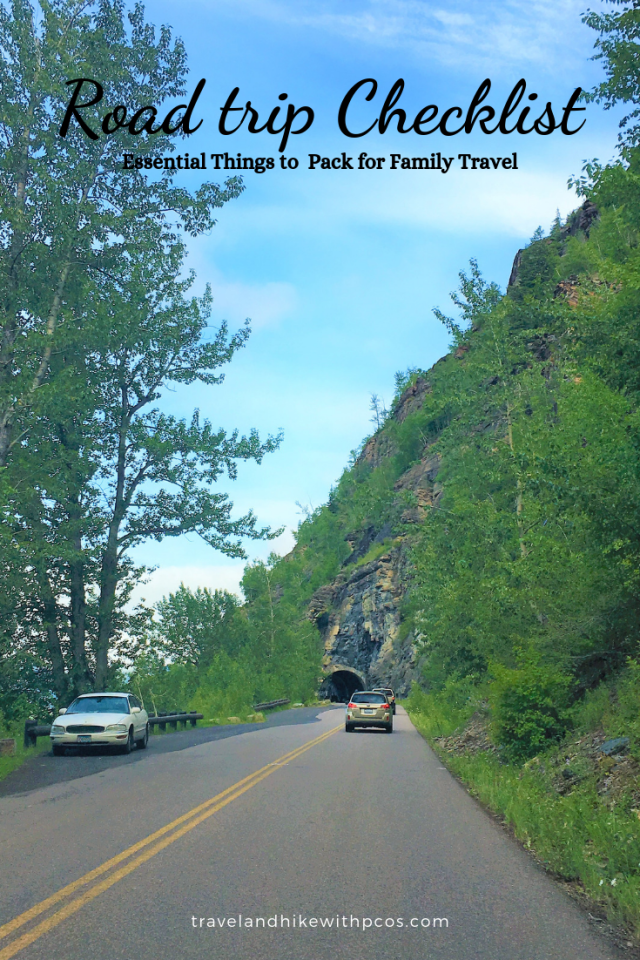 Going to Sun Road Road trip Checklist for family travel