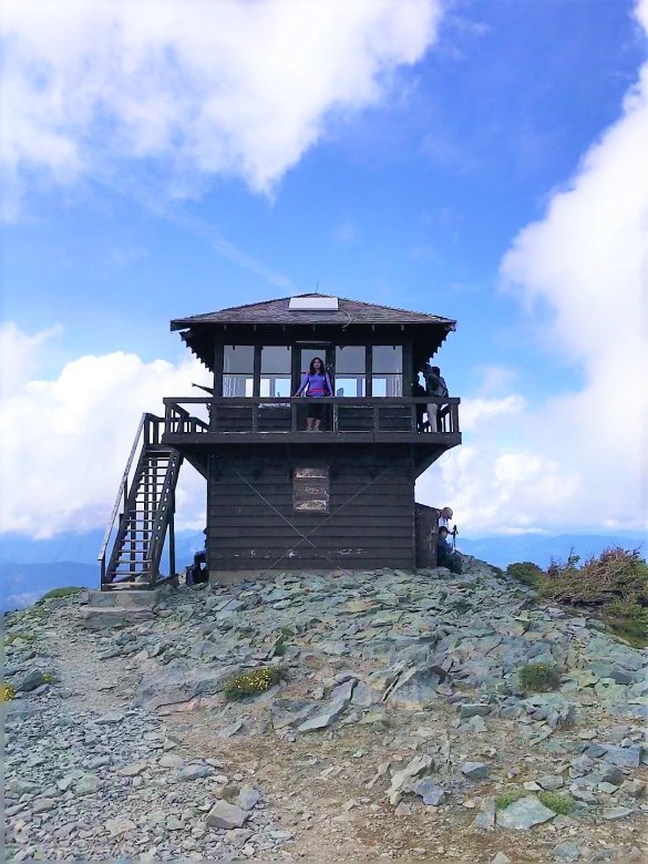 Standing at Fremont Fire Lookout Tower