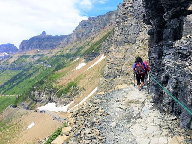 Hiking Highline Trail Glacier National Park