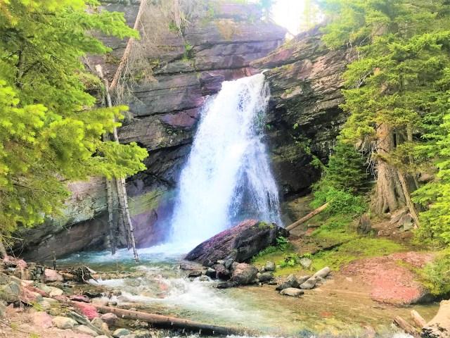 Baring Falls Glacier National Park