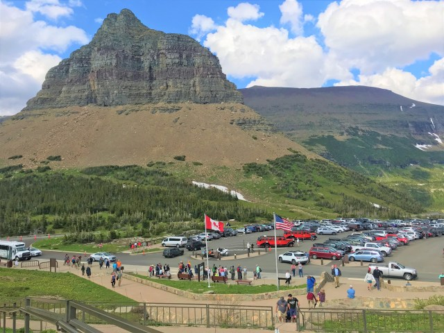 Logan Pass Visitor Center Parking Lot. Things to do at Glacier National Park