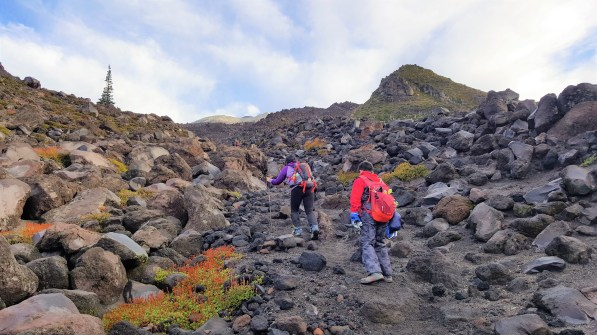Boulder Field in Mount St. Helens Summit Climb
